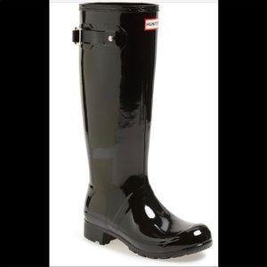 Hunter glossy tall boots